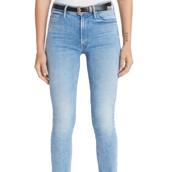 Mother Dazzler Ankle Fray Jeans Dropping In Sz 33